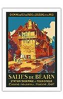Salies-de-B?arn、フランス - スパ・観光 - SNCFフランスの鉄道 - ビンテージな鉄道旅行のポスター によって作成された ルネ・ルーセル c.1930s - 美しいポスターアート