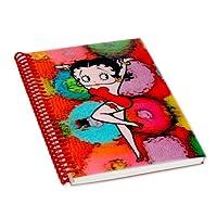 Betty Boop Lenticularプラスチックノートブックスパイラルバインド(空白) 4x 6、3d Futuristic Spheresイメージ、レインボー