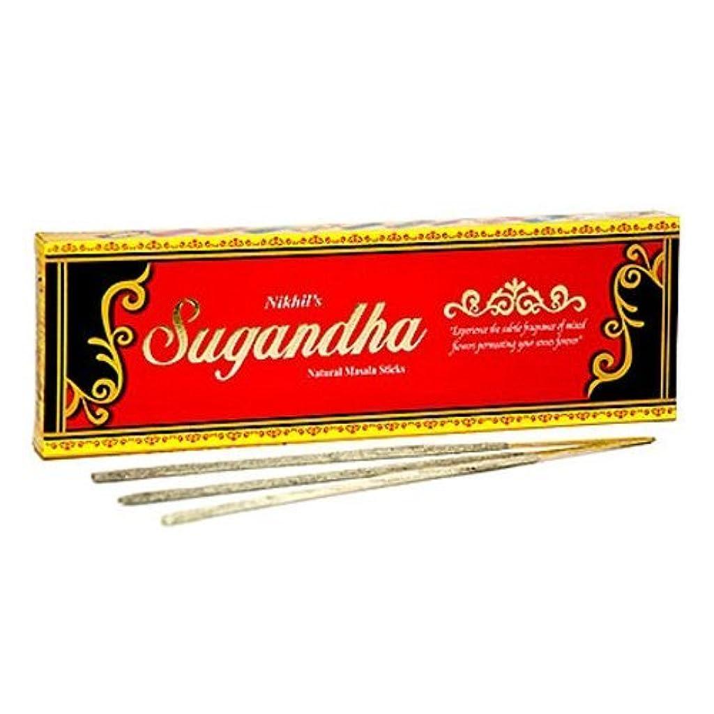 示す簡単なテスピアンNikhil Sugandha Natural Incense - 2 Packs, 50 Grammes per Pack