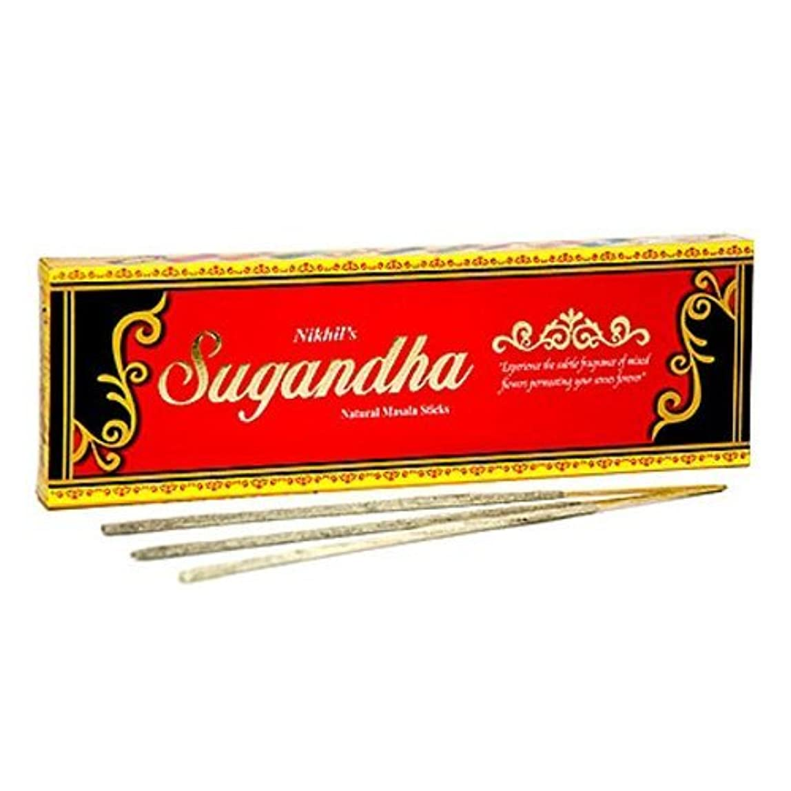 必要症状褐色Nikhil Sugandha Natural Incense - 2 Packs, 50 Grammes per Pack