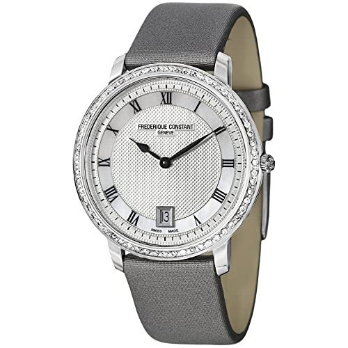 [フレデリックコンスタント]Frederique Constant 腕時計 Slim Line Silver Guilloche Dial Grey Satin Watch FC220M4SD36 [並行輸入品]