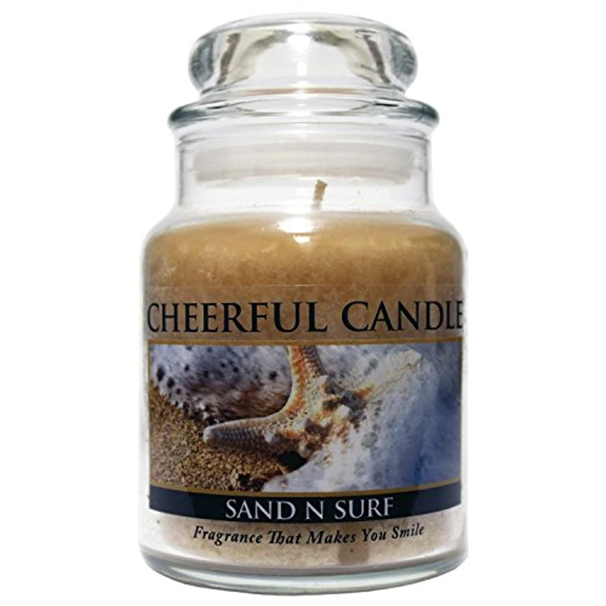 コロニーメディカル一貫したA Cheerful Giver Sand 'n Surf Jar Candle, 6-Ounce [並行輸入品]