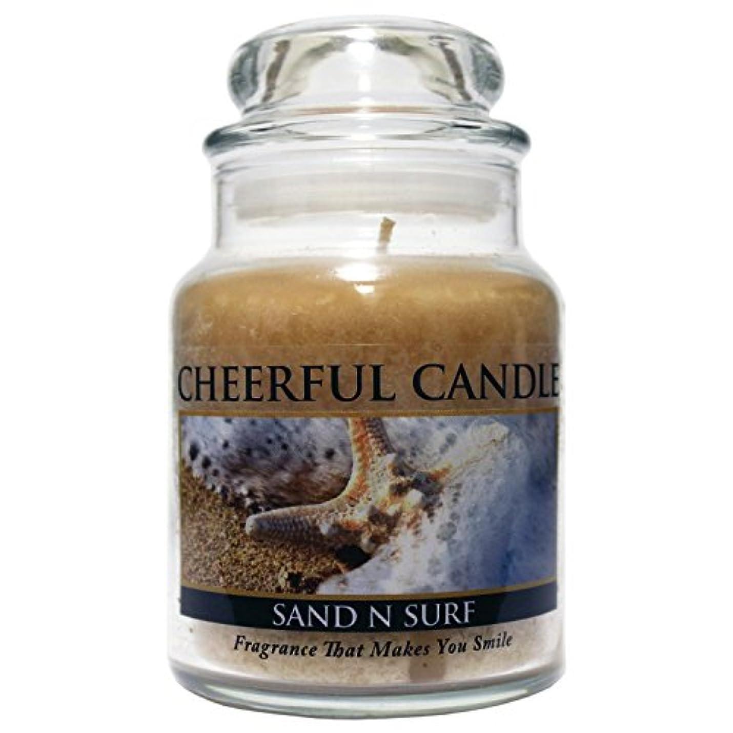 九月算術危険を冒しますA Cheerful Giver Sand 'n Surf Jar Candle, 6-Ounce [並行輸入品]