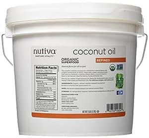 Nutiva Organic Refined Coconut Oil, 1 Gallon by Nutiva