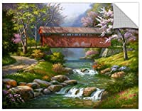 Tremont Hill Sung Kim ''Rocky River Bridge'' Gallery Wrapped Canvas, 14X18 [並行輸入品]