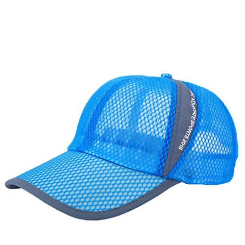 ONE LIMITATION(ワン リミテーション) エアーメッシュ キャップ フリーサイズ UVカット日よけ 帽子 メンズ レディース (05 ブルー)