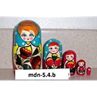 Russian Nesting Doll (Maidan) * 5 Pcs / 4 in * mdn-5.4b