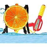 shengo 水鉄砲 ウォーターガン バックパック式 水ピストル 子供 おもちゃ 超強力飛距離 水遊び 果物 オレンジ