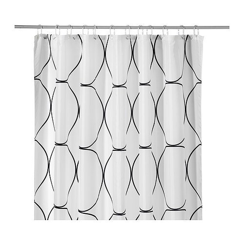 RoomClip商品情報 - IKEA(イケア) UDDGRUND シャワーカーテン ホワイト ブラック