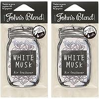 ノルコーポレーション ルームフレグランス Johns Blend エアーフレッシュナー ホワイトムスク ホワイトムスクの香り セット 2枚セット