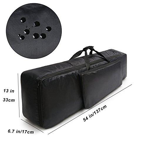NKTM キーボードケース キーボードカバー 88鍵盤 3way多機能キーボード保護ケース 耐衝撃性あり ブラック