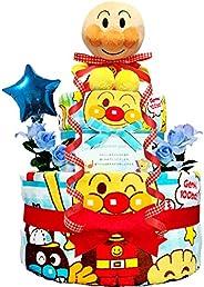 おむつケーキ [ 男の子/アンパンマン / 2段 ] パンパース (出産祝い に大 人気)2001 ダイパーケーキ 赤ちゃん ベビーシャワー ギフト 1歳 誕生日プレゼント