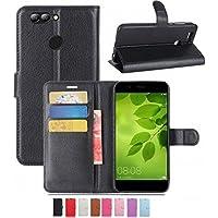 windykids GOO G08 ケース カバー 黒 3点セット 保護フィルム タッチペン 手帳型 Wiko View Prime OCNモバイルONE スタンド カード収納