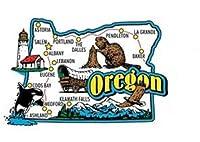 Oregon Jumbo State Map Fridge Magnet by Saddle Mountain Souvenir