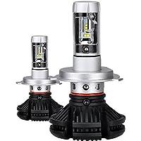 zodoo LEDヘッドライト H4 Hi/Lo フォグランプ LEDバルブ 切替タイプ フィリップスPHILIPS Lumileds ZES2代目LEDチップ 車検対応 オールインワンタイプ ファンレス 50W 6000LmX2 3000k/6500K/8000変色可能 2個セット 保証1年 ZX3H4