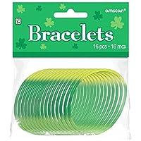 """グリーンRubber Bracelets (パックof 16) 2 1/2"""" 399325"""