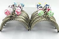 がま口 アンティーク パーツ キャンディ 口金 セット 選べる 材料 手芸材料 ハンドメイド (10色10個セット)