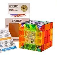 HJXDJP - Moyu Yusu マジックキューブ 4x4 標準色ステッカー立体パズル立体キューブ ポップ防止立体キューブ スムーズ回転キューブ 競技用パズルキューブ 60x60x60 mm (透明素体