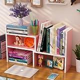 Angel one デスク上 机上 卓上 置棚 本棚 組み立て式 木製 ユニークなデザイン 創意的 オシャレ 書類整理 机上用品 文具収納 デスクトップ シェルフ ストレージ本棚 (ピンク)