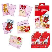犬と猫バレンタインカード( Flomo )