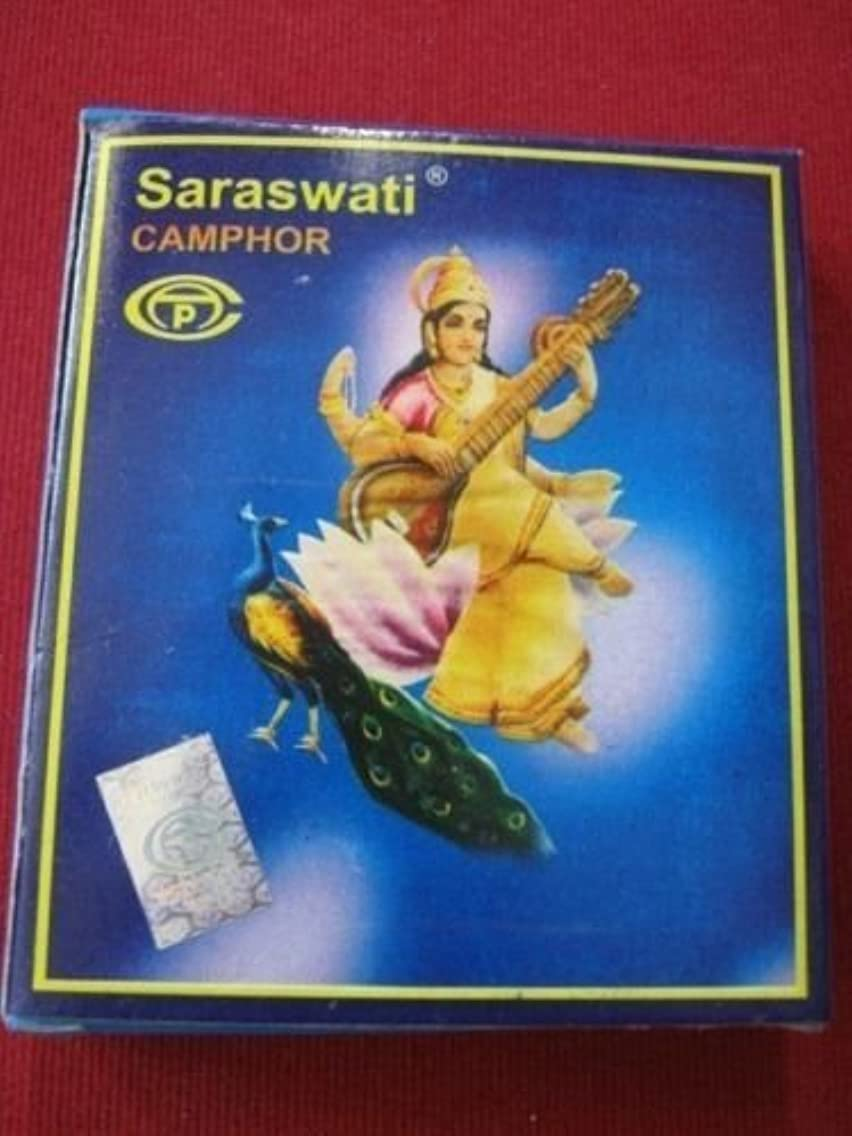 錆び喜劇時制indianstore4all Pure Saraswati Camphor Kapur tablets100 tabletsin 1パック