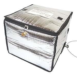 TOKYO SELECTION 宅配ボックス 折りたたみ 鍵 ワイヤー セット 簡易型 保冷タイプ 戸建 個人宅 大容量 60L