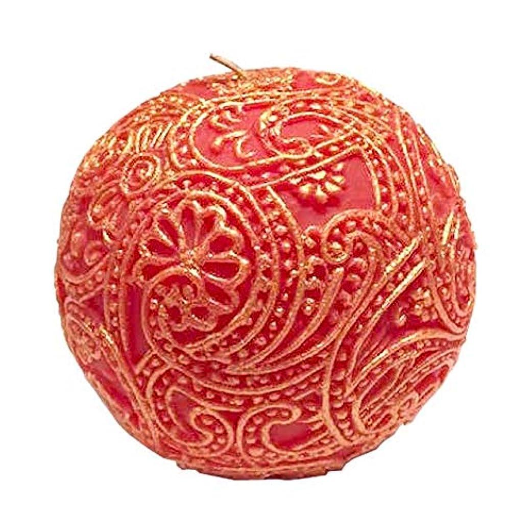 人事誤解を招く心配ペイズリー Globular (Red×Gold)