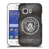 オフィシャルManchester City Man City FC ブラック&ホワイト モノクロ ジオメトリック・バッジ ハードバックケース Samsung Galaxy Young 2