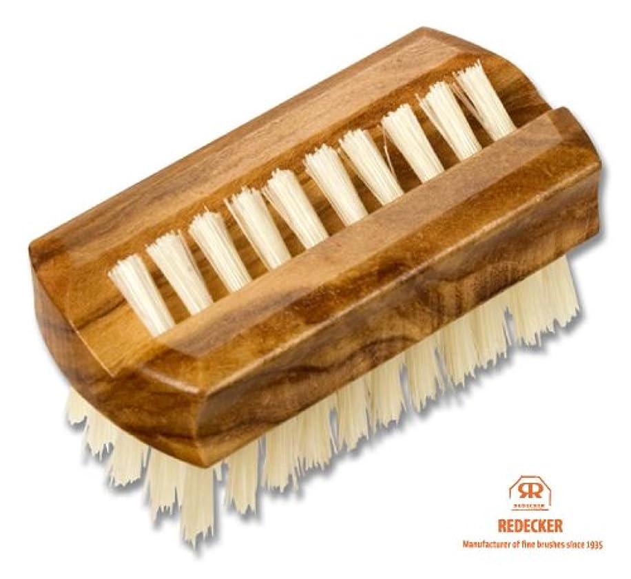 剃る変数犠牲REDECKER レデッカー オリーブウッドのネイルブラシ(豚毛)