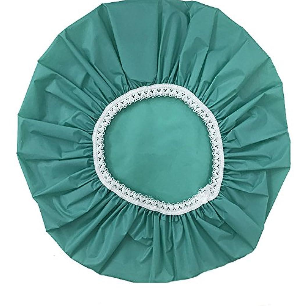 袋滅びる助言するMaltose 防水シャワーキャップ 浴用帽子 入浴 ヘアキャップ 再使用可能 髪を保護する帽子 温泉 2枚セット