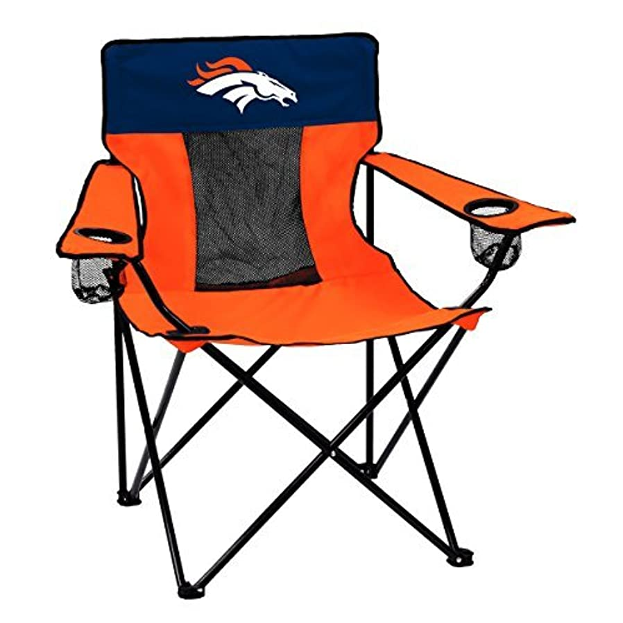 流産浸透する妊娠したLogo Brands NFL Denver Broncos Folding Elite Chair with Mesh Back and Carry Bag, Carrot, One Size [並行輸入品]