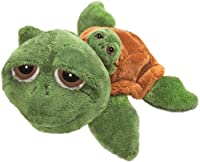 Suki Gifts Li'L Peepers Mummy and Baby Rocky Turtle Soft Boa Plush Toy (Green/Brown)