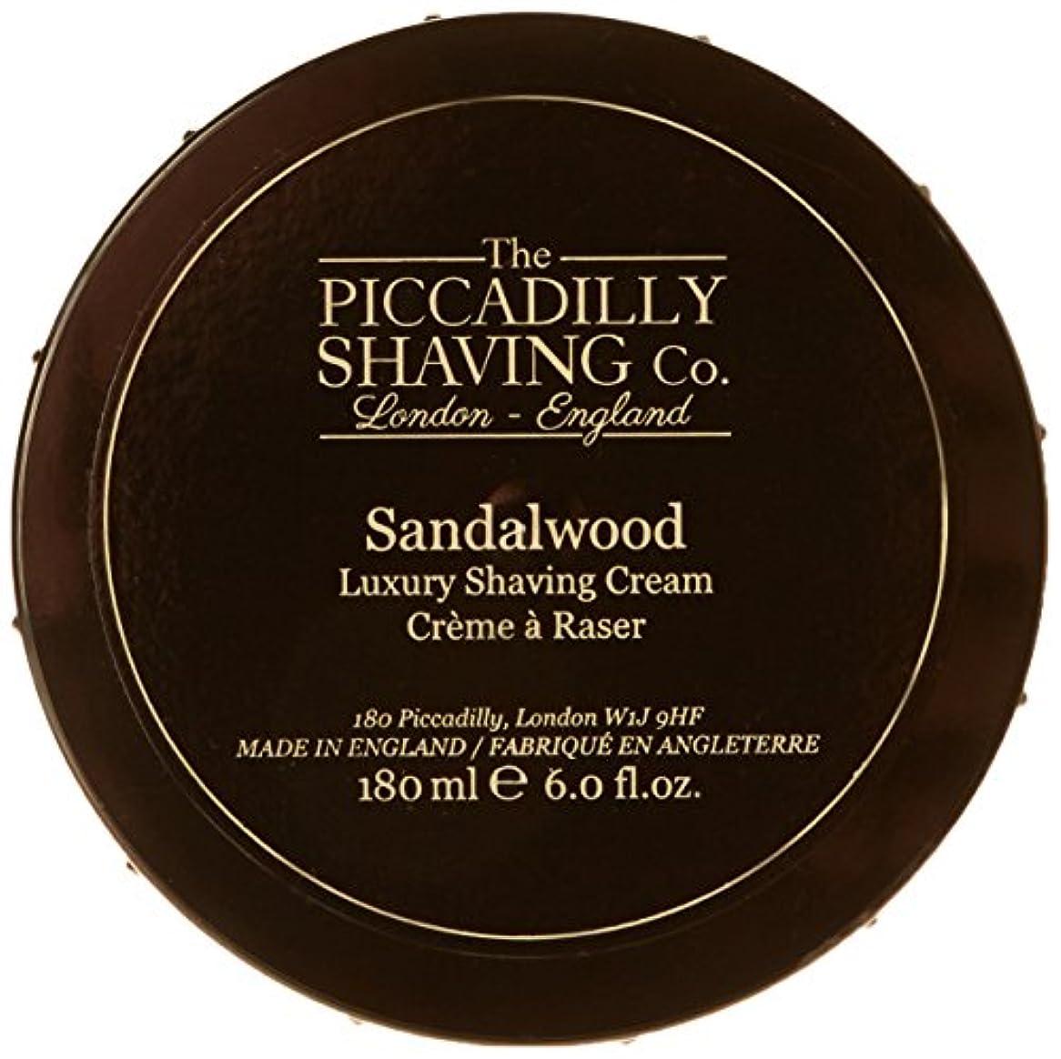 ゆでる政府あなたはTaylor Of Old Bond Street The Piccadilly Shaving Co. Sandalwood Luxury Shaving Cream 180g/6oz並行輸入品