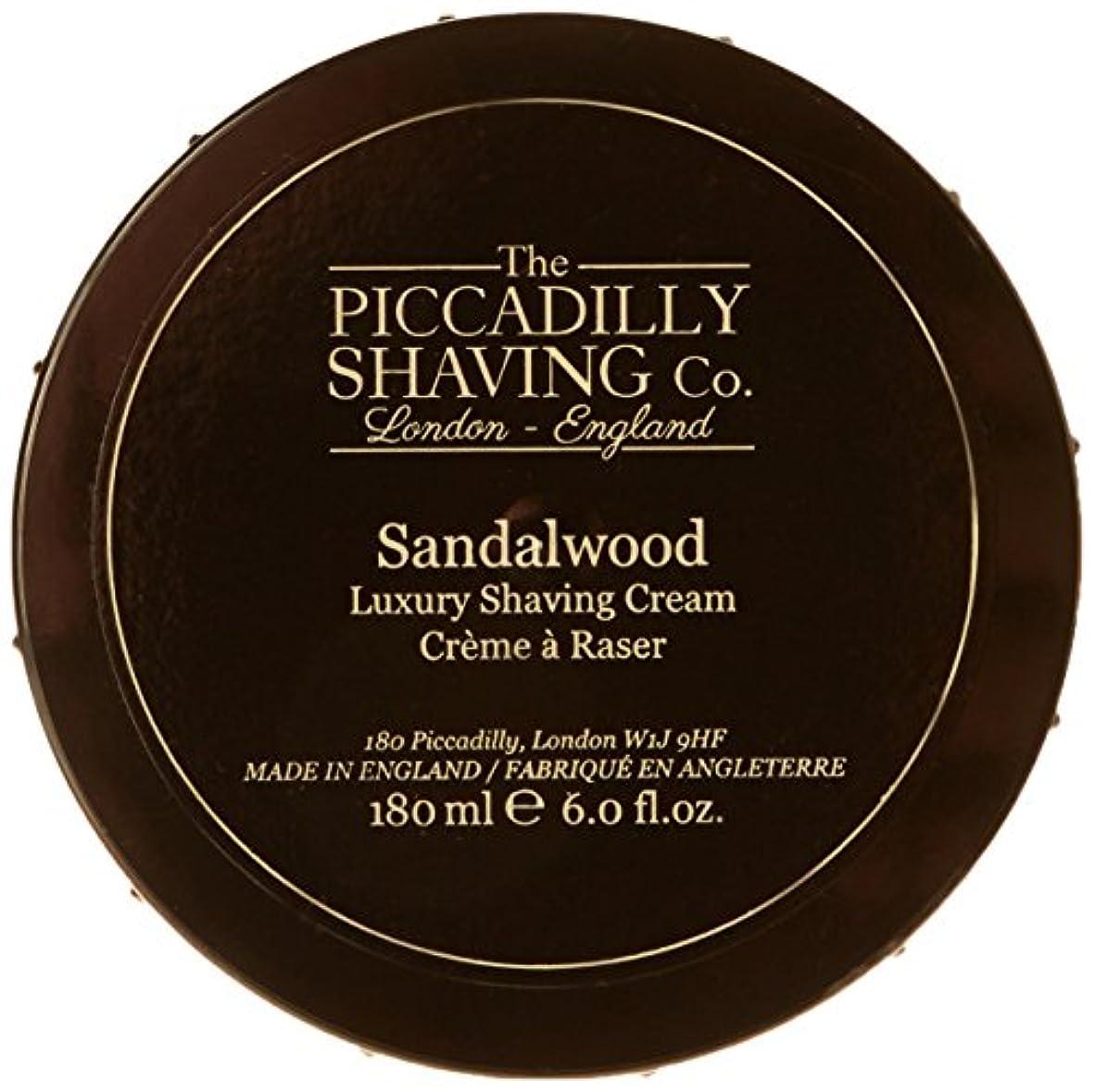 記念碑的な熱心な柔らかい足Taylor Of Old Bond Street The Piccadilly Shaving Co. Sandalwood Luxury Shaving Cream 180g/6oz並行輸入品