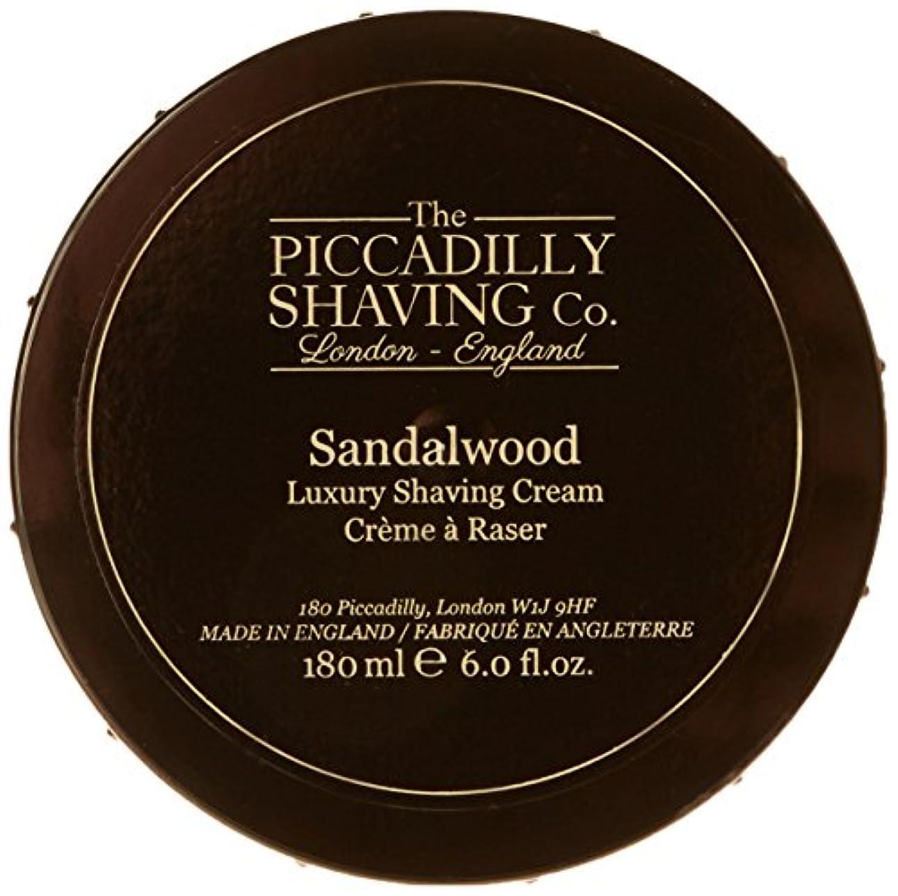 前進六分儀試すTaylor Of Old Bond Street The Piccadilly Shaving Co. Sandalwood Luxury Shaving Cream 180g/6oz並行輸入品