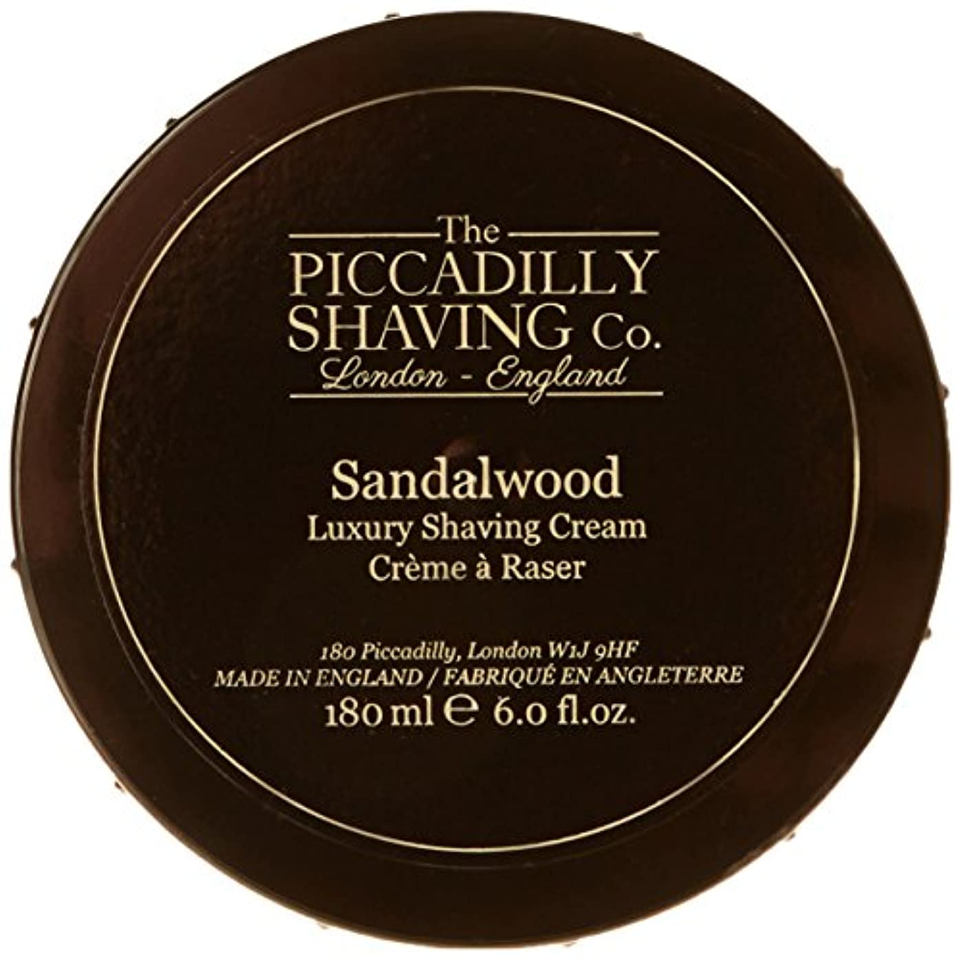 まさにやりすぎ手荷物Taylor Of Old Bond Street The Piccadilly Shaving Co. Sandalwood Luxury Shaving Cream 180g/6oz並行輸入品