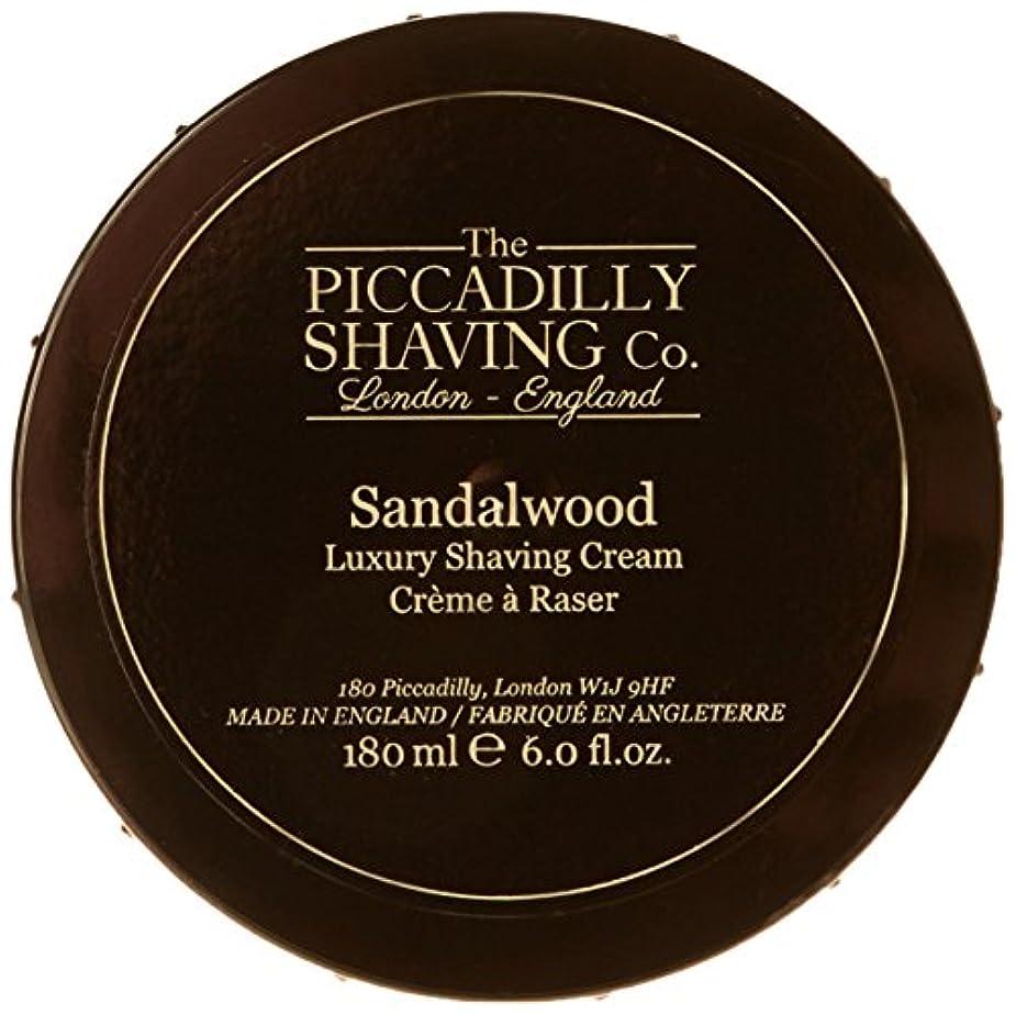 睡眠ギャラントリーレッスンTaylor Of Old Bond Street The Piccadilly Shaving Co. Sandalwood Luxury Shaving Cream 180g/6oz並行輸入品