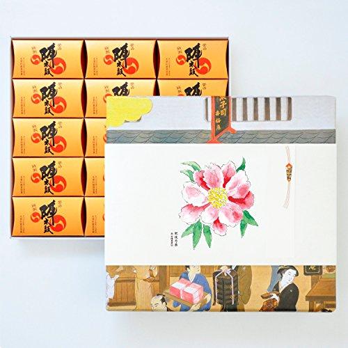 お菓子の香梅 特製誉の陣太鼓30個入 スイーツ 1150g 肥後六花オリジナルのし紙 【肥後芍薬】