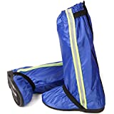 ロングレインシューズカバー 防水対策 背面ファスナー仕様 男女兼用