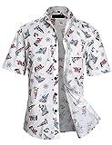 APTRO(アプトロ)半袖シャツ メンズ 花柄 プリント ハワイアン柄 フローラル ラダー ヨットファンション ハワイ ラペル アロハシャツ APT1020 XL