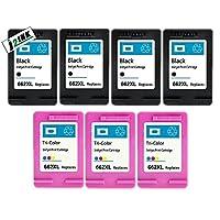 j2ink 7パック# 662XLブラック&カラーインクカートリッジHP Deskjet 1015151525152545