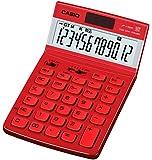 カシオ デザイン電卓 ジャストタイプ 12桁 JF-V200RE-N バーニングレッド