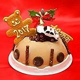クリスマスケーキ チョコレートアイスケーキ4号 トミカパトカー付き