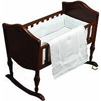Baby Doll Bedding Royal Classic Mini Crib/ Port-a-Crib Bedding Set, White by BabyDoll Bedding