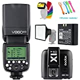 Godox V860II-S HSS GN60 2.4G TTL Li-on Battery Camera Flash Speedlite with Godox X1T-S Wireless Trigger Transmitter for Sony Camera &15x17cm softbox & Filter &USB LED Free Gift