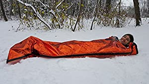 """Tummah Emergency Survival Mylar Thermal Sleeping Bag/Blanket - Bonus - Receive A""""Must Read"""" The Basic Survival Guide eBook with Your Order! A $14 Value Absolutely Free"""