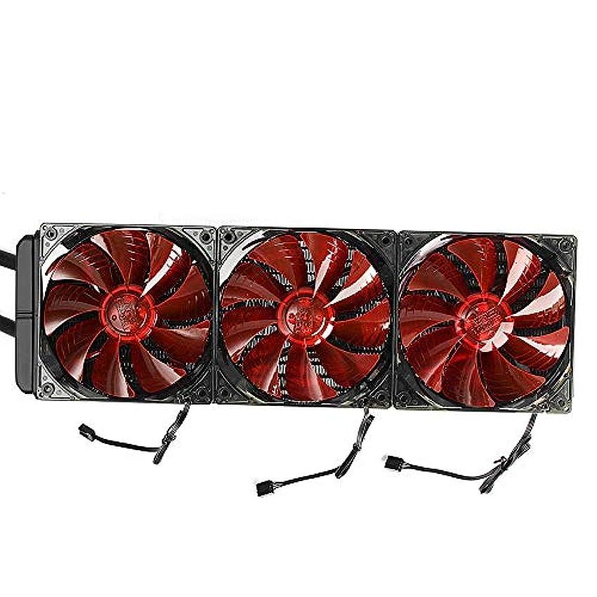 確認するファッション電気のコンピューター用ケースファン 12V 3x12cm FansLED CPU水液体クーラーファン水がラジエーターヒートシンクを冷却された冷却します (色 : 赤, サイズ : ワンサイズ)