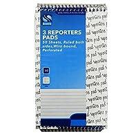 Shorthand , Reporters Spiralbound書き込みノートブック–3パック、100ページ、ルールド–サイズ8x 5
