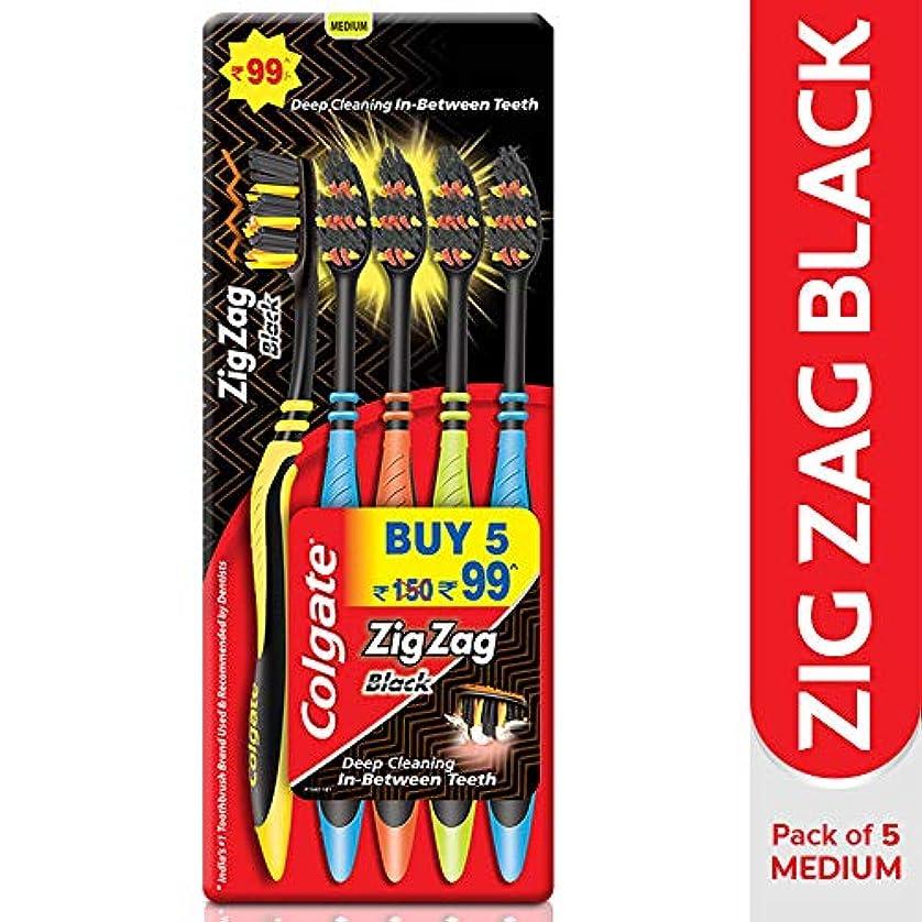 メモセンチメートルライトニングColgate Zig Zag Black Bristle Toothbrush