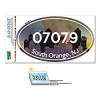 07079 南オレンジ, NJ - シティ - 楕円形郵便番号ステッカー